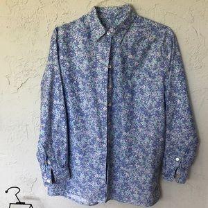 LILY PULITZER Button Down Cotton Blouse